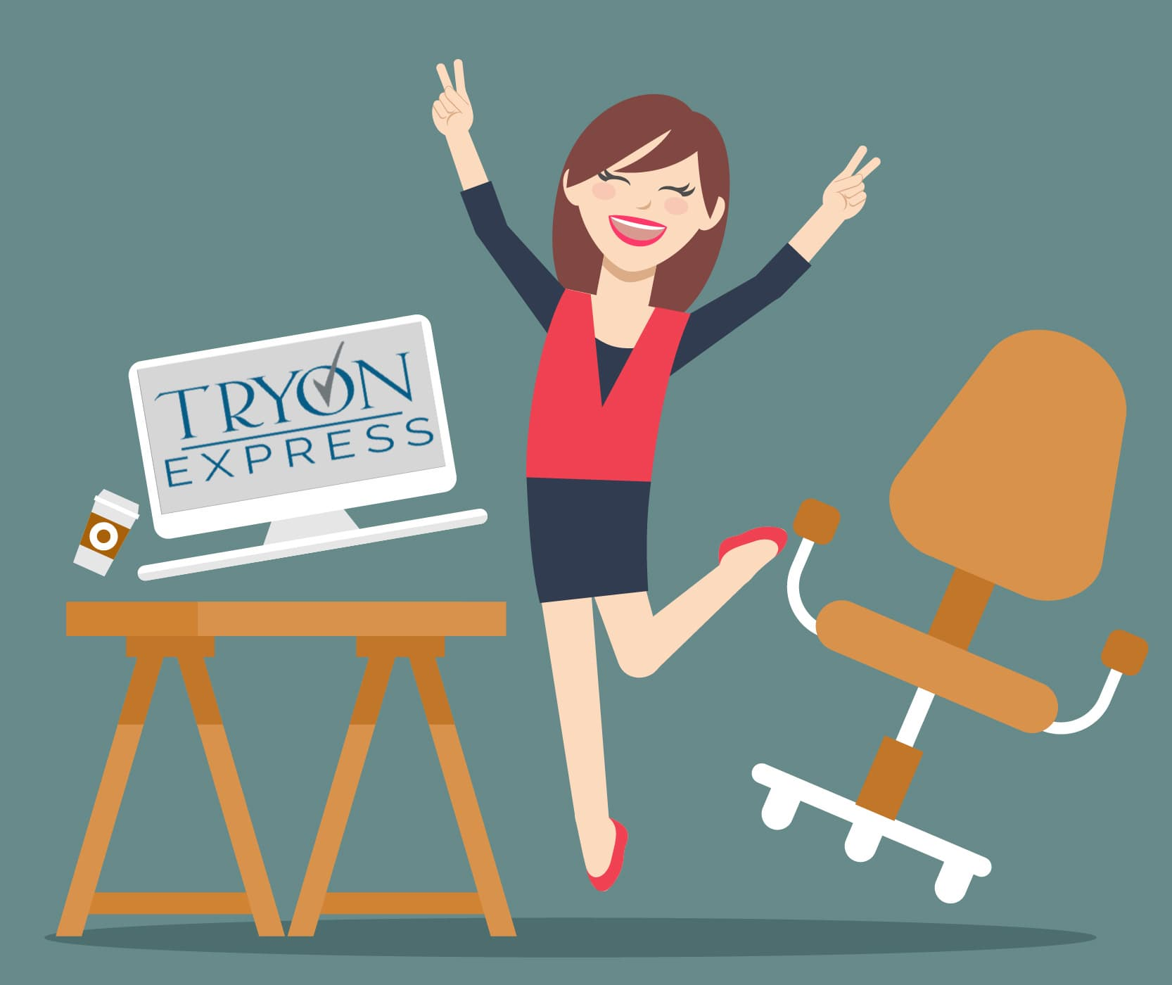 happy woman tryon express